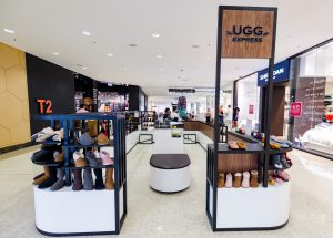UGG express kiosk with shoes